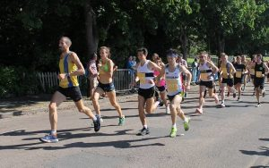 Steve Way, Tag and Josh Cole in Poole 10k