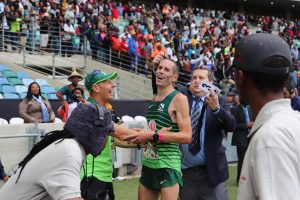 Steve Way looking relieved after Comrades Marathon