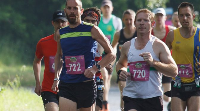 Steve Way and Stu Nicholas in the Dorchester Marathon
