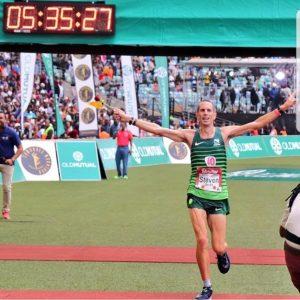 Steve Way finishes Comrades Marathon