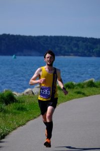 Tom Paskins in Poole Half Marathon