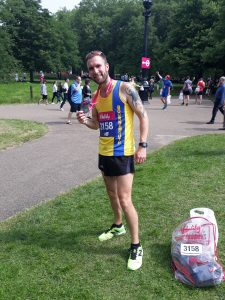 Trevor Elkins after the Vitality London 10,000