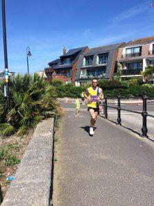 Trevor Elkins in Poole Half Marathon
