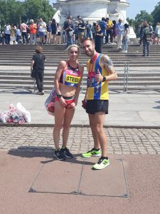 Trevor Elkins with Gemma Steele at Vitality 10,000