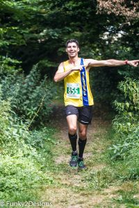 Lázsló poses in Bath Running Festival Half Marathon