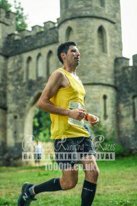 Lázsló goes by the castle in the Bath Running Festival Half Marathon