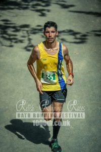 Lázsló going well in Bath Running Festival Half Marathon