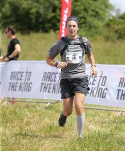 Mark Hillier nears the finish of Race to the King