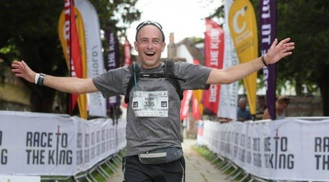 Mark Hillier crosses the line in Race to the King