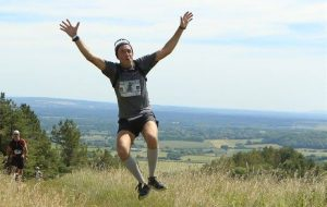 Mark Hillier jumps for joy in Race to the King