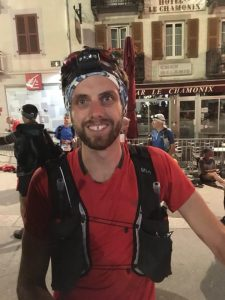 Toby Chapman in Chamonix for the Mont Blanc 90k