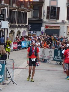 Toby Chapman reaches the end of an epic race