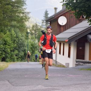 Toby Chapman is on his way in the Mont Blanc 90k