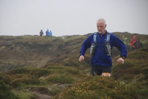 Andy Gillespie makes his way through the heathland at the Salisbury 5,4,3,2,1 event