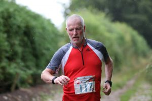 Andy Gillespie battle hard at the Salisbury 5,4,3,2,1 event