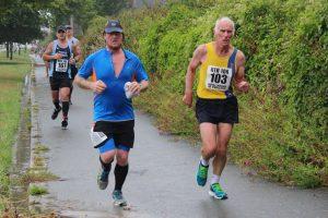 Ian Graham finishing the Round the Rock 10k