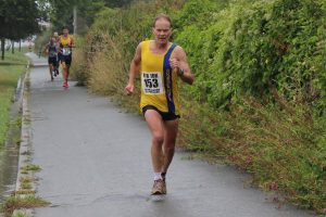 Jud Kirk finishes the Round the Rock 10k