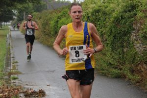Julia Austin finishes the Round the Rock 10k