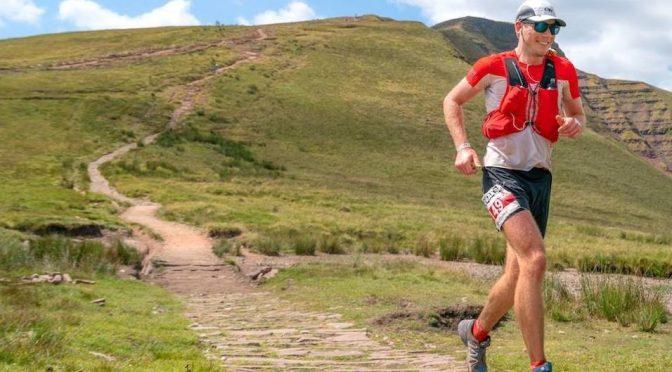 Ollie Stoten competing in the Ridgeway Challenge 86 Mile race