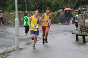 Phil Cherrett and Andrew Brookes in the Round the Rock 10k