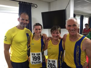 Rich, Tamzin, Louise and Ian after Round the Rock 10k