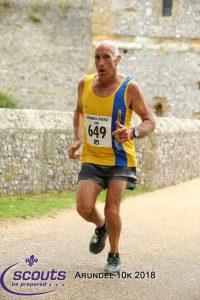 Simon Hunt near the castle grounds in Arundel 10k