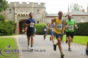 Simon Hunt racing the Arundel 10k