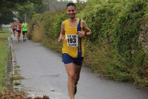 Steve Parsons finishes the Round the Rock 10k
