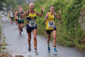 Tamzin Petersen finishes the Round the Rock 10k