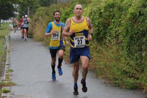 Tom Paskins finishes the Round the Rock 10k