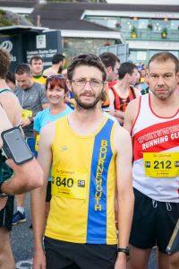 Tom Paskins on the start-line for the Run Killarney Half Marathon