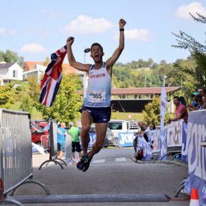 Ant Clark jumps for joy in 100k World Championships