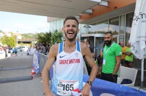 Ant Clark after completing 100k World Championships