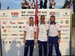 Ant Clark with his Great Britain men's team for the 100k World Championships
