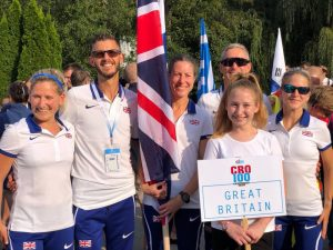 Ant Clark with his GB teammates at 100k World Championships