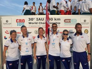 Ant Clark with his Great Britain teammates for the 100k World Championships