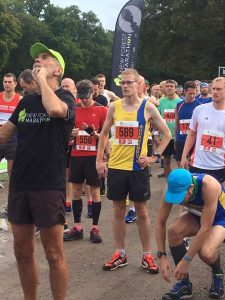 Billy McGreevy lines up for the 10k at the New Forest Marathon