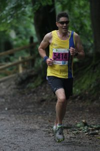 Chris O'Brien in the New Forest 5k race