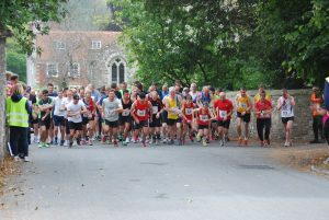 The start of the Great Wishford Run 10k