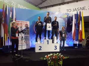 JC on the podium for the Polish Masters 100k