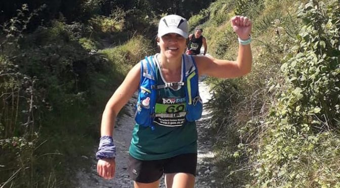 Kirsty Drewett in action at the Purbeck Marathon