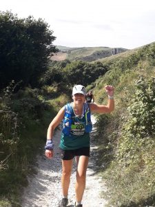 Kirsty Drewett in the Purbeck Marathon