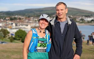 Kirsty Drewett with her Dad before Purbeck Marathon