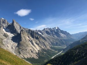 Incredible views from the top of the mountain at Mont-Blanc