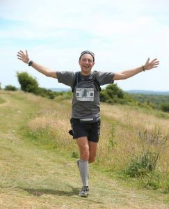 Mark Hillier flying along in the Purbeck Marathon