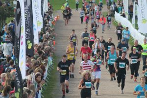 Rich Cannings nears the finish of the New Forest Half Marathon