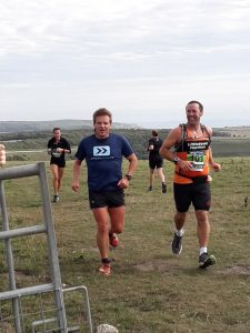 Rich Nelson supporting Jonathan Woods of Littledown Harriers