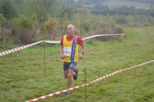 Simon Hunt at the end of the Black Hill 10k