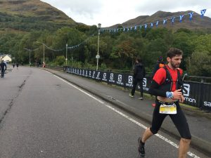 Toby Chapman on flatter ground in the Salomon Ben Nevis Ultra