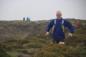 Andy manoeuvres along the rocky coastal paths